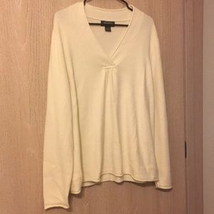 Eddie Bauer Off-White Sweater XL